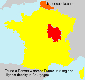 Surname Romaniw in France