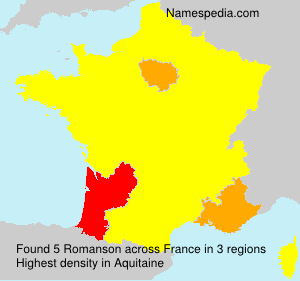Surname Romanson in France