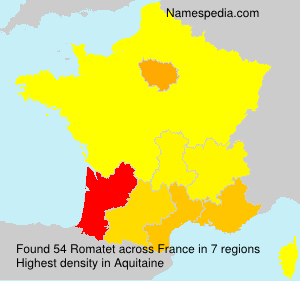Surname Romatet in France