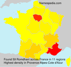Surname Romdhani in France