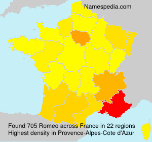 Surname Romeo in France