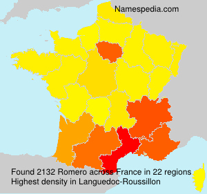 Surname Romero in France