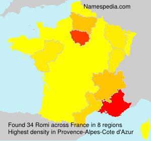 Surname Romi in France