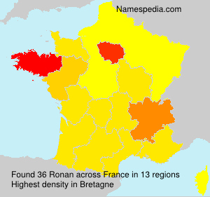 Surname Ronan in France