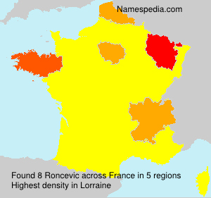 Familiennamen Roncevic - France