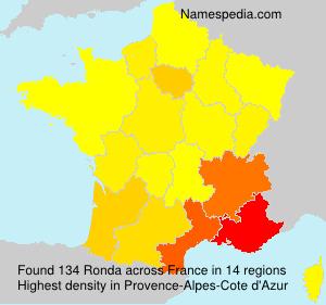 Surname Ronda in France