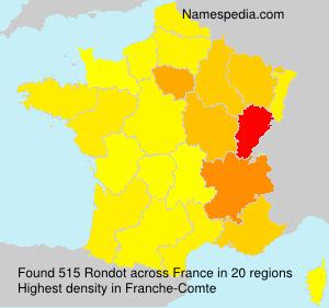 Surname Rondot in France