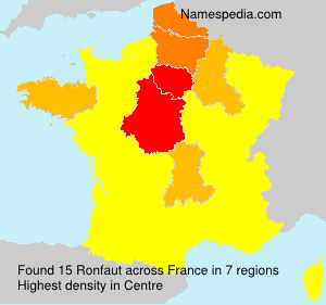 Surname Ronfaut in France