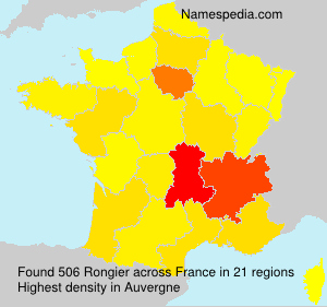 Surname Rongier in France