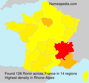 Surname Ronin in France