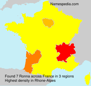Surname Ronna in France