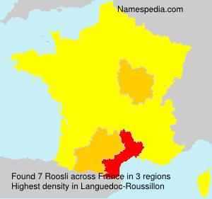 Surname Roosli in France
