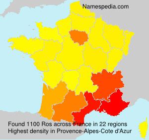 Surname Ros in France