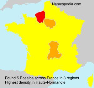 Surname Rosalba in France