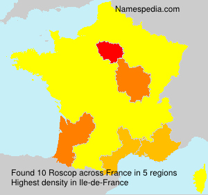 Surname Roscop in France