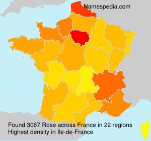Familiennamen Rose - France
