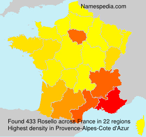Surname Rosello in France