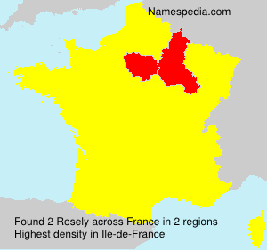 Surname Rosely in France