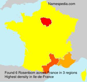 Surname Rosenbom in France
