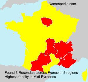 Surname Rosendahl in France
