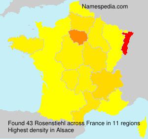 Familiennamen Rosenstiehl - France
