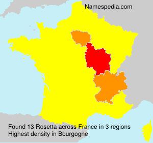 Surname Rosetta in France