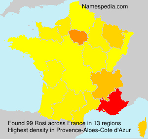Surname Rosi in France