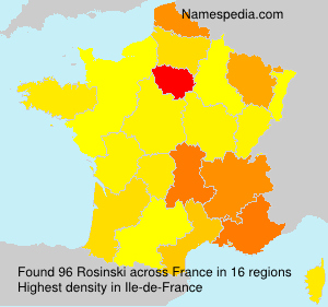 Surname Rosinski in France