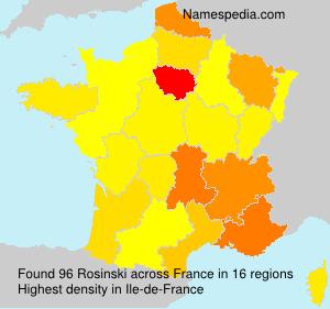 Surname Rosinski in France