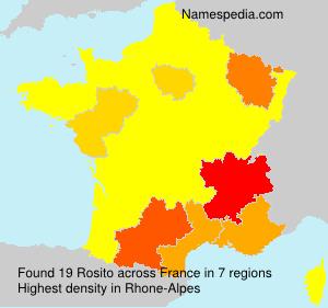 Familiennamen Rosito - France