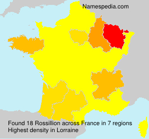 Surname Rossillion in France
