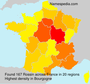 Surname Rossin in France
