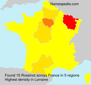 Surname Rossinot in France