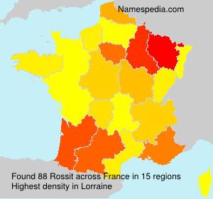 Familiennamen Rossit - France