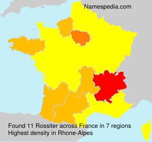 Surname Rossiter in France