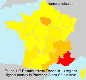 Surname Rostain in France