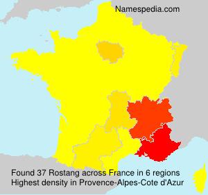 Surname Rostang in France