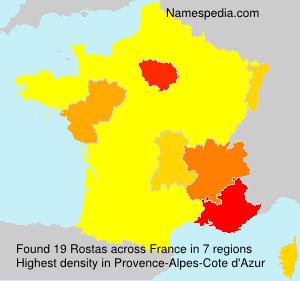 Surname Rostas in France