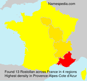 Surname Rostollan in France
