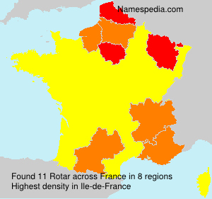 Surname Rotar in France
