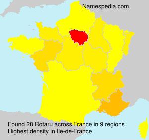Familiennamen Rotaru - France