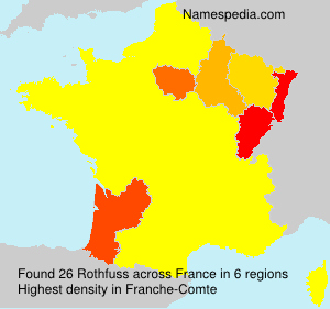 Surname Rothfuss in France