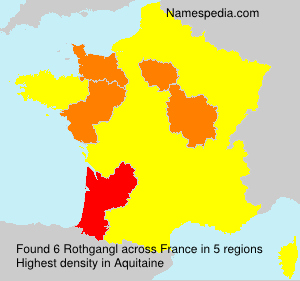 Surname Rothgangl in France