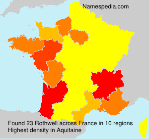 Surname Rothwell in France