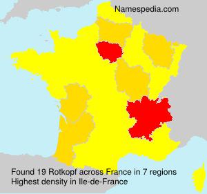 Familiennamen Rotkopf - France