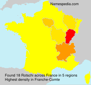 Surname Rotschi in France