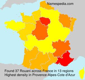 Familiennamen Rouani - France