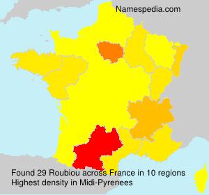 Familiennamen Roubiou - France