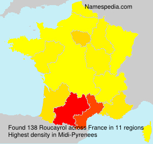 Surname Roucayrol in France