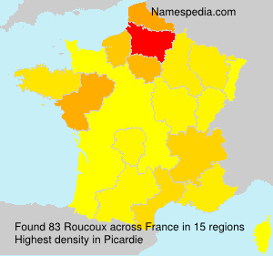 Surname Roucoux in France